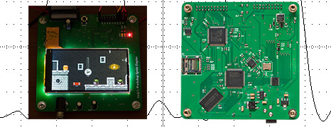 An FPGA sprite graphics accelerator with a 180MHz STM32F429 controller and 640 x 360 LCD