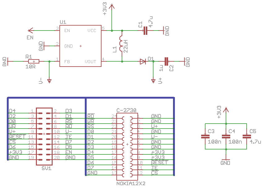 reverse engineering the nokia  qvga lcd  andys workshop, schematic