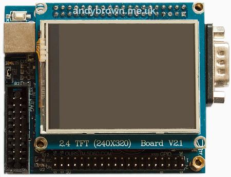 stm32plus: ILI9325 TFT driver | Andys Workshop