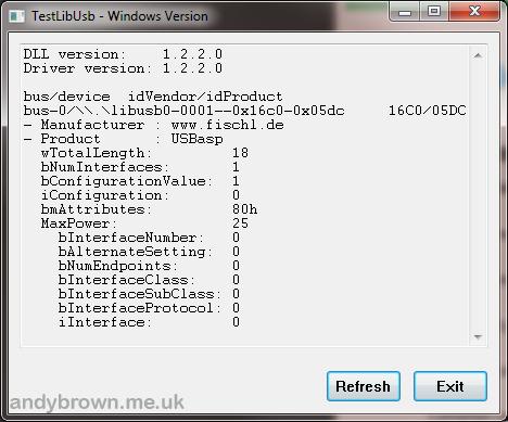 USBasp drivers for 64 bit Windows 7 | Andys Workshop