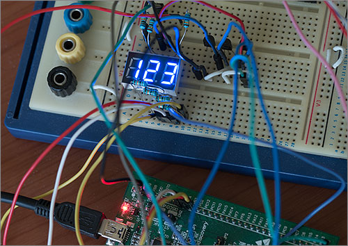 Directly driving a 7-segment LED display with the STM32 | Andys Workshop