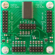 16 channel level converter with dual regulators