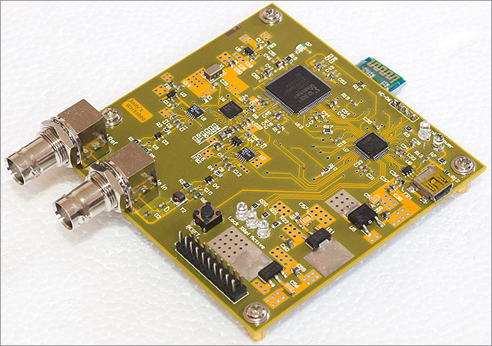 Nanocounter, an FPGA/STM32/Android frequency counter