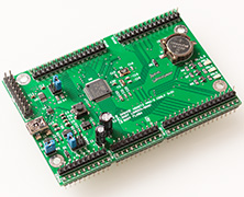 A development board for an STM32G081 MCU
