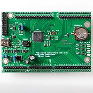 A development board for an STM32G081 MCU