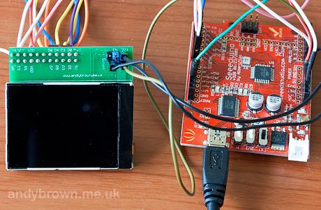 Interfacing the Nokia 6300 QVGA TFT to the standard Arduino