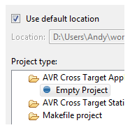 Your first AVR project in Eclipse