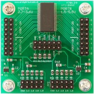 16 channel level converter with dual regulators